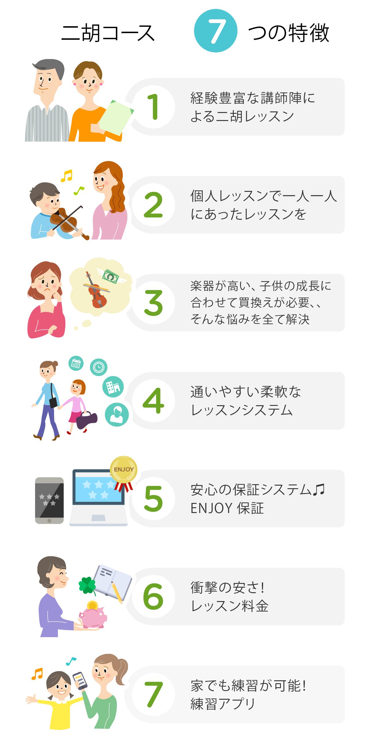二胡教室の7つの特徴